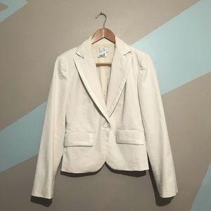 LOFT winter white cotton blazer